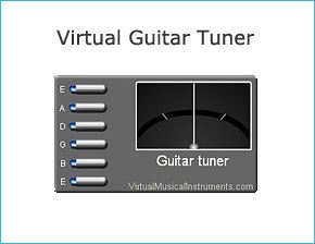 Virtual Musical Instruments online: play the guitar, piano