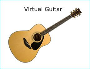 virtual musical instruments play the guitar piano drums and flute